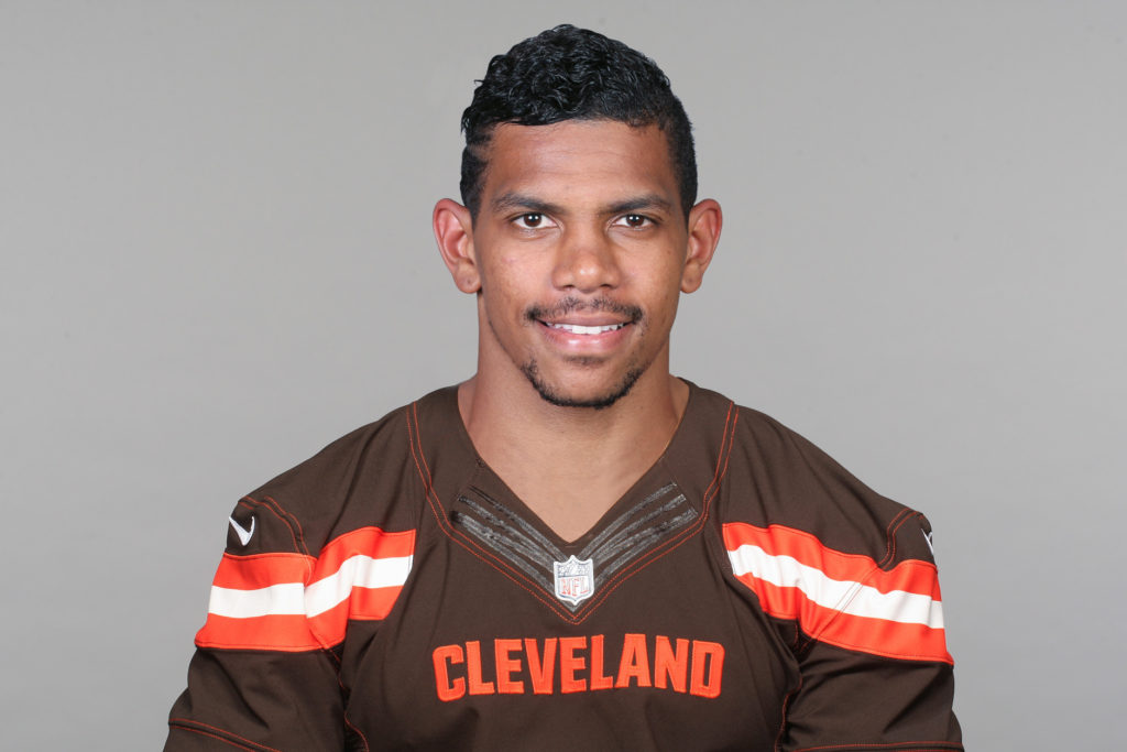 FILE - This is a 2015 file photo showing Terrelle Pryor of the Cleveland Browns NFL football team. Terrelle Pryor may be down to his last chance to make Cleveland's roster. The former Raiders quarterback trying to switch to wide receiver and prolong his NFL career is expected to finally take the field in an exhibition game on Thursday night, Sept. 3, 2015, when the Browns visit the Chicago Bears. (AP Photo/File)